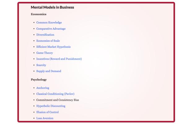 mental models in buisness