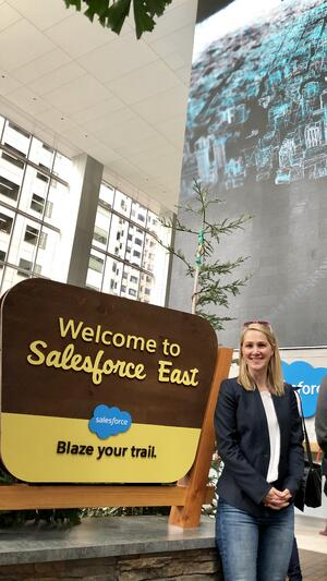 Temre Green meets with leaders at Salesforce Headquarters in San Francisco, California